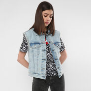 Ex-Boyfriend Sleeveless Trucker Jacket