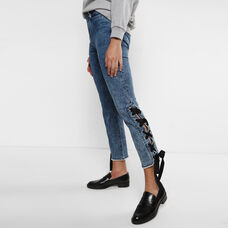 Side Ribboned Jeans