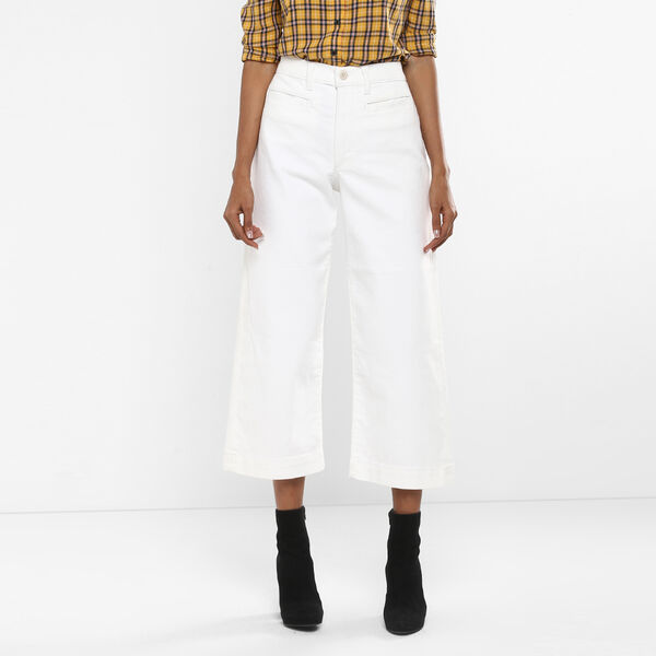 Ribcage Wide Leg Cropped Jeans