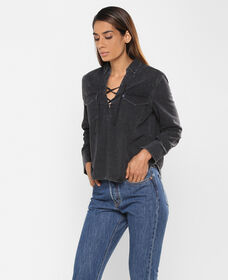 Levi's® Made and Crafted® Denim Lace-Up Top