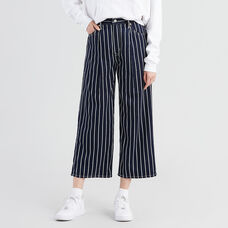 Ribcage Pleated Cropped Jeans