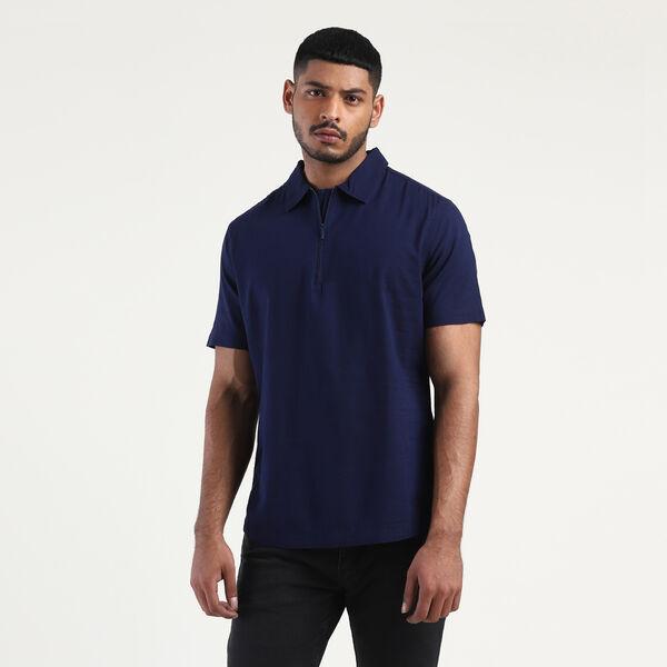 Partial Zipper Shirt