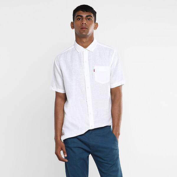 Short Sleeve Sunset Pocket Linen Shirt
