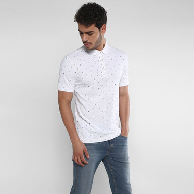 db941ae7 White Tab Polo Tee - Chinese White Print | Levi's® India