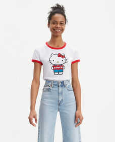 Levi's® x Hello Kitty® Batwing Ringer Tee