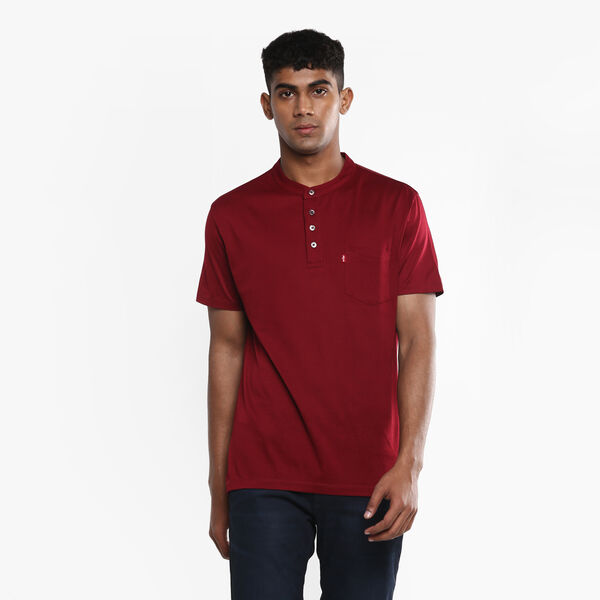 Redloop™ Band Collar Polo Tee