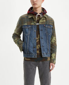 Camo Pieced Trucker Jacket
