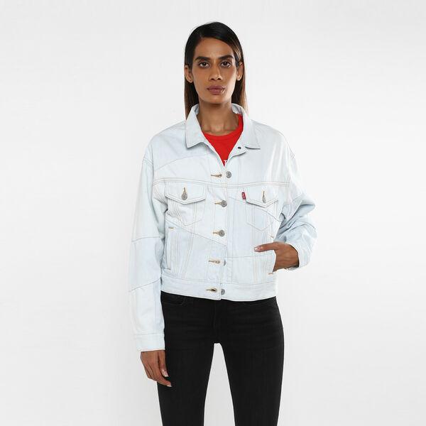Slouch Pieced Trucker Jacket