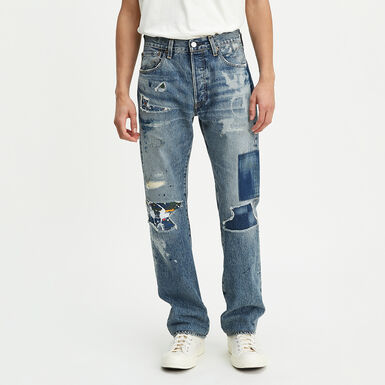 a860ae2c Levi's® Made & Crafted® 501® Original Fit Selvedged Jeans - LMC Trashed And  Patched Blue | Levi's® India