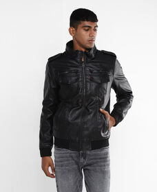 Levi's® Faux Leather Bomber Jacket
