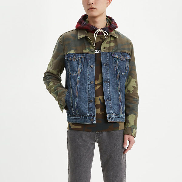 Camo Pieced Trucker Jacket