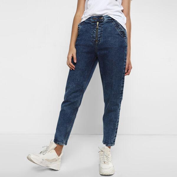 Exposed Zipper Jeans