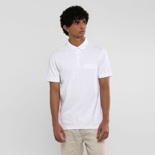 White Tab Polo Tee