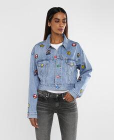 Levi's® x Super Mario Cropped Dad Trucker